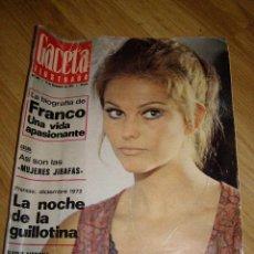 Collectionnisme de Magazine Gaceta Ilustrada: GACETA ILUSTRADA - Nº 845 - 20 PTAS. - 17 DICIEMBRE 1972 - CLAUDIA CARDINALE - . Lote 40680534
