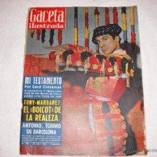 Coleccionismo de Revista Gaceta Ilustrada: GACETA ILUSTRADA 1960 Nº 186 ANTONIO TORERO EN BARCELONA. Lote 41010697