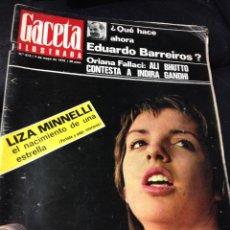 Coleccionismo de Revista Gaceta Ilustrada: LIZA MINNELLI, EL NACIMIENTO DE UNA ESTRELLA - GACETA ILUSTRADA 1972 - NIXON, VIETNAM, Y MUCHO MAS. Lote 41102857