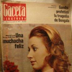 Coleccionismo de Revista Gaceta Ilustrada: REVISTA - GAZETA ILUSTRADA Nº 795, Mª DEL CARMEN MARTINEZ -BORDIU FRANCO, BAJO EL SIGNO DE MARILYN. Lote 45875034