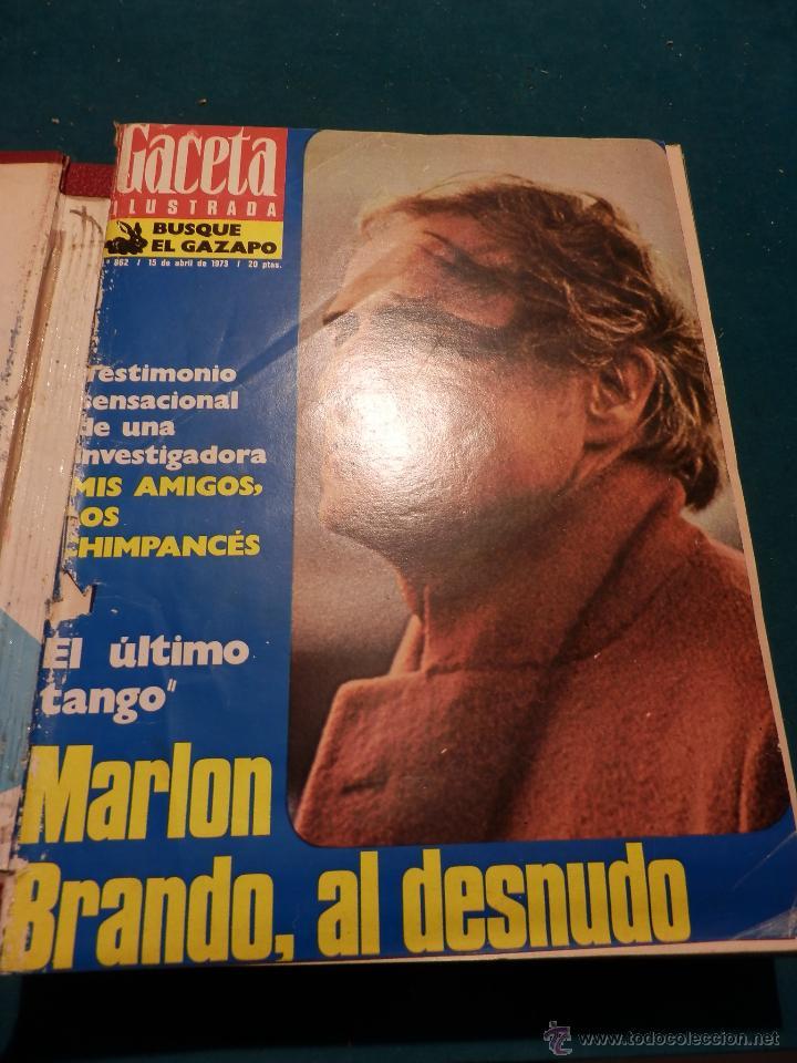 Coleccionismo de Revista Gaceta Ilustrada: GACETA ILUSTRADA -TOMO AÑO 1973 CON 8 REVISTAS-MARLON BRANDO-PICASSO-MASSIEL-MARI TRINI-LIZA MINELLI - Foto 2 - 46552209