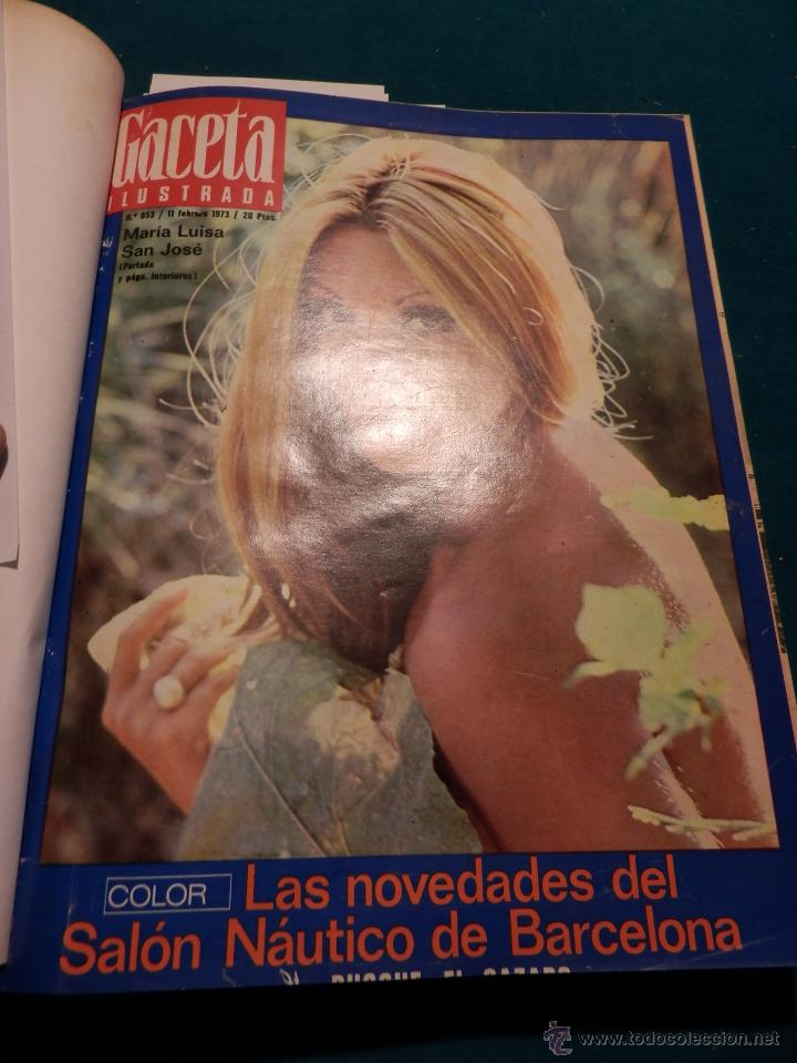 Coleccionismo de Revista Gaceta Ilustrada: GACETA ILUSTRADA -TOMO AÑO 1973 CON 9 REVISTAS-ODESSA-NARANJO DE BULMES-MONTGOMERY CLIFT-SOFÍA LOREN - Foto 2 - 46552311