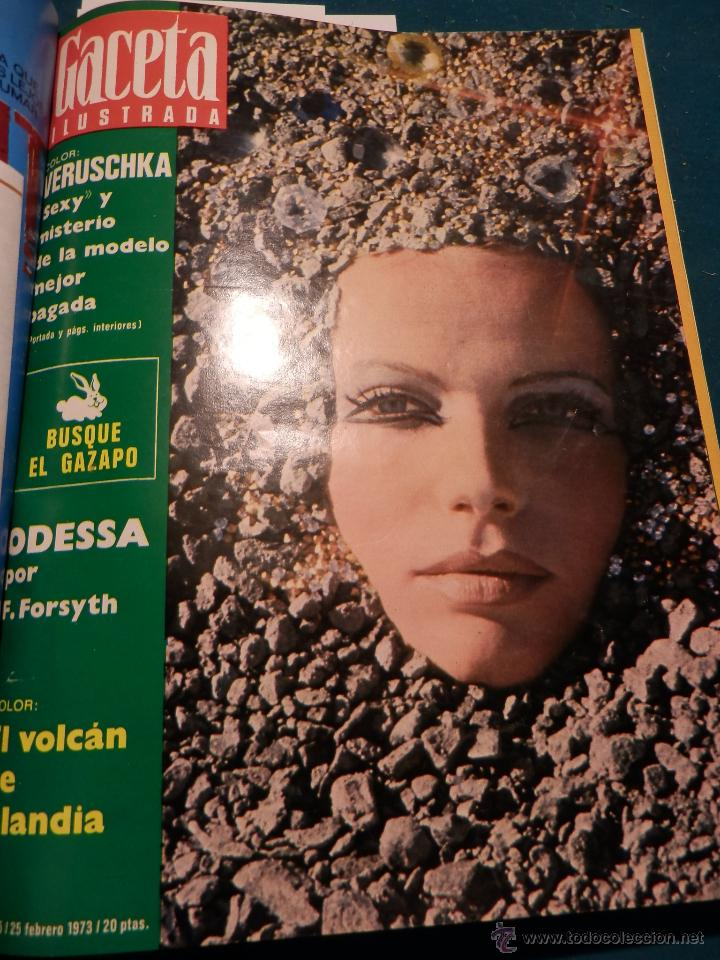 Coleccionismo de Revista Gaceta Ilustrada: GACETA ILUSTRADA -TOMO AÑO 1973 CON 9 REVISTAS-ODESSA-NARANJO DE BULMES-MONTGOMERY CLIFT-SOFÍA LOREN - Foto 4 - 46552311