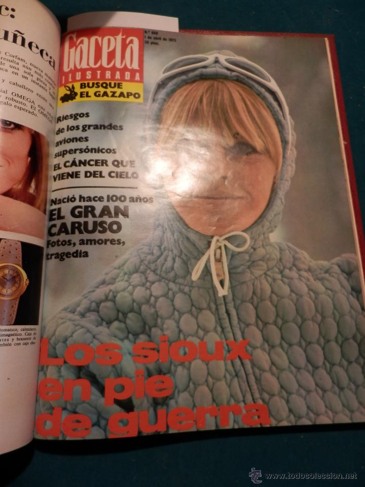 Coleccionismo de Revista Gaceta Ilustrada: GACETA ILUSTRADA -TOMO AÑO 1973 CON 9 REVISTAS-ODESSA-NARANJO DE BULMES-MONTGOMERY CLIFT-SOFÍA LOREN - Foto 9 - 46552311