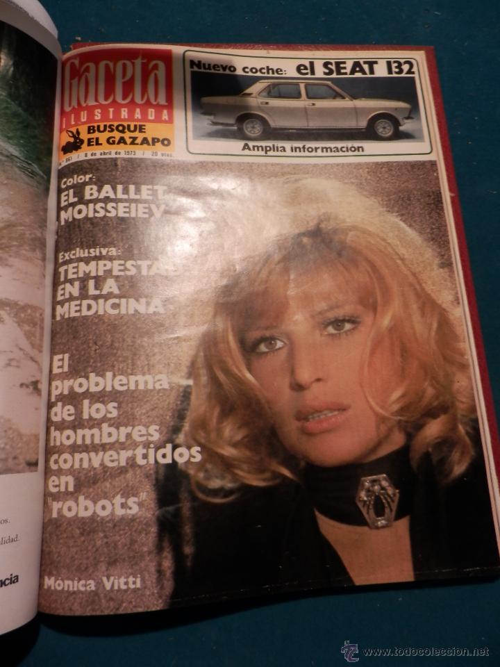 Coleccionismo de Revista Gaceta Ilustrada: GACETA ILUSTRADA -TOMO AÑO 1973 CON 9 REVISTAS-ODESSA-NARANJO DE BULMES-MONTGOMERY CLIFT-SOFÍA LOREN - Foto 10 - 46552311
