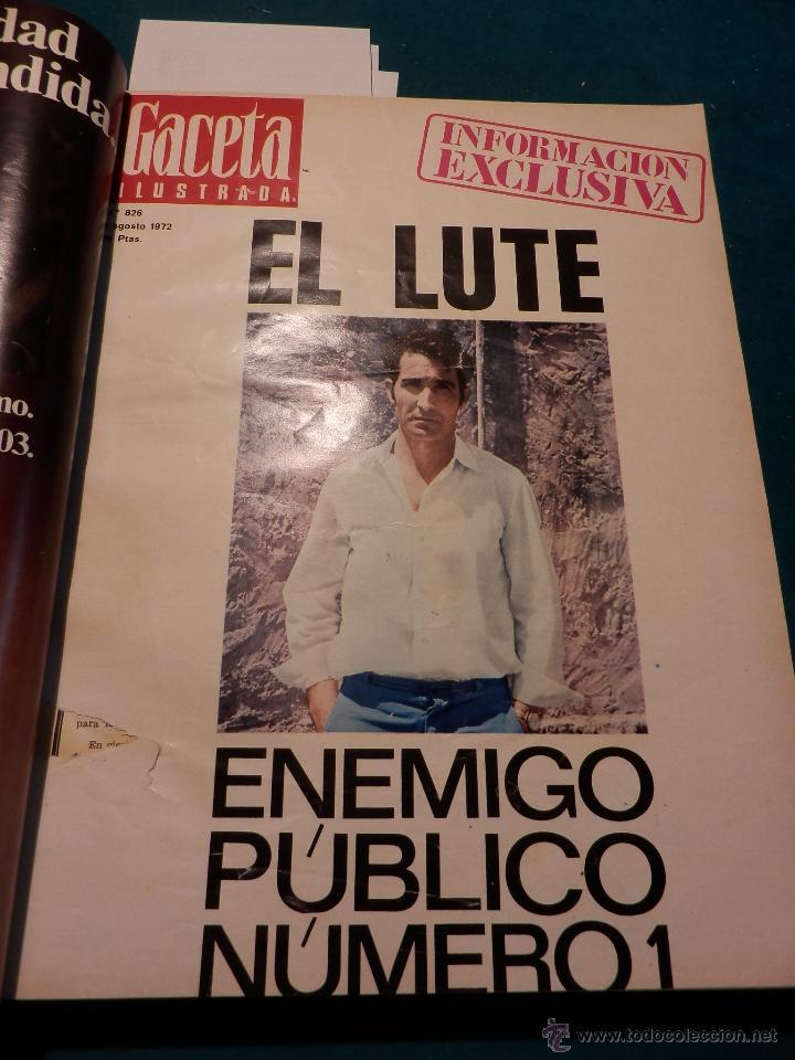 Coleccionismo de Revista Gaceta Ilustrada: 8 GACETA ILUSTRADA + 1 LA ACTUALIDAD ESPAÑOLA -TOMO AÑO 1972- -EL LUTE-ELVIS PRESLEY-ANGEL NIETO - Foto 3 - 46552704