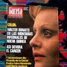 Coleccionismo de Revista Gaceta Ilustrada: REVISTA GACETA ILUSTRADA 1976 / ROCIO DURCAL, SECTA MOON, EL CANCER. Lote 46987762