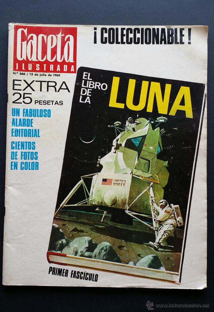Coleccionismo de Revista Gaceta Ilustrada: Tres números extra de la Gaceta Ilustrada de 1969. 3 fascículos El libro de la luna . - Foto 2 - 50440603