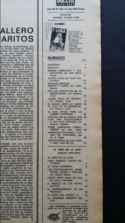 Coleccionismo de Revista Gaceta Ilustrada: Tres números extra de la Gaceta Ilustrada de 1969. 3 fascículos El libro de la luna . - Foto 4 - 50440603