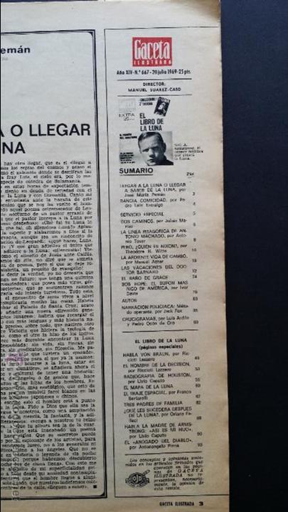 Coleccionismo de Revista Gaceta Ilustrada: Tres números extra de la Gaceta Ilustrada de 1969. 3 fascículos El libro de la luna . - Foto 10 - 50440603