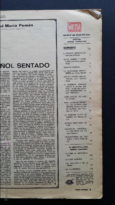 Coleccionismo de Revista Gaceta Ilustrada: Tres números extra de la Gaceta Ilustrada de 1969. 3 fascículos El libro de la luna . - Foto 14 - 50440603