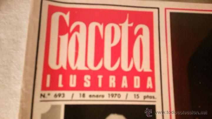 Coleccionismo de Revista Gaceta Ilustrada: REVISTA GACETA ILUSTRADA Nº 693 Mia Farrow La costa de piratas Mastroianni El fin de Biafra LOT200 - Foto 2 - 53042112