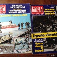 Coleccionismo de Revista Gaceta Ilustrada: GACETA ILUSTRADA NOV 1979 Y FEB 1980. Lote 53693998