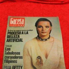Coleccionismo de Revista Gaceta Ilustrada: REVISTA GACETA ILUSTRADA, Nº 922, 1974 LOS FABULOSOS CURANDEROS FILIPINOS. Lote 54145359