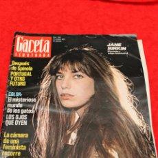 Coleccionismo de Revista Gaceta Ilustrada: REVISTA GACETA ILUSTRADA, Nº 940, 1974 JANE BIRKIN. Lote 54145732