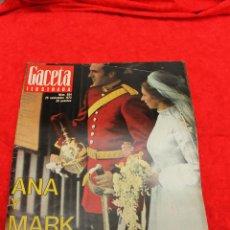Coleccionismo de Revista Gaceta Ilustrada: REVISTA GACETA ILUSTRADA, Nº 894, 1974 BODA ANA Y MARK EN BUCKINGHAM PALACE. Lote 54145857