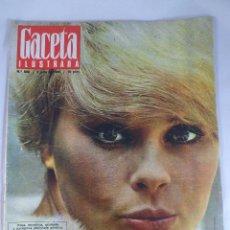Coleccionismo de Revista Gaceta Ilustrada: REVISTA GACETA ILUSTRADA Nº 509. 9 JULIO 1966 .ELKE SOMMER PORTADA - DETECTIVE EN LA CARCEL. Lote 55363472