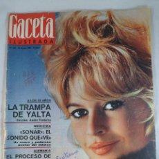 Coleccionismo de Revista Gaceta Ilustrada: REVISTA GACETA ILUSTRADA Nº 436. 13 FEBRERO 1965. BRIGITTE BARDOT PORTADA-AUSCHWITZ - SONAR. Lote 55363726