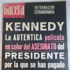 Collectionnisme de Magazine Gaceta Ilustrada: REVISTA GACETA ILUSTRADA Nº 374. 7 DICIEMBRE 1963. EXCLUSIVA ASESINATO KENNEDY. Lote 55363971