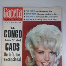 Collectionnisme de Magazine Gaceta Ilustrada: REVISTA GACETA ILUSTRADA Nº 438. 27 FEBRERO 1965. JAYNE MANSFIELD PORTADA- CONGO - ARTHUR MILLER. Lote 55365126