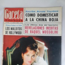 Collectionnisme de Magazine Gaceta Ilustrada: REVISTA GACETA ILUSTRADA Nº 469 2 OCTUBRE 1965 REVELACIONES RAQUEL MUSSOLINI - MALDITOS DE HOLLYWOOD. Lote 55365169