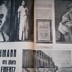 Coleccionismo de Revista Gaceta Ilustrada: GACETA ILUSTRADA Nº 192-1960-EICHMANN-BORIS PASTERNAK-MEDIAS-SELECCION NACIONAL-B.B.-AL CAPONE. Lote 56554112