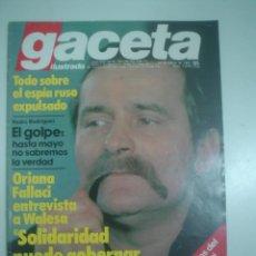 Collectionnisme de Magazine Gaceta Ilustrada: GACETA ILUSTRADA Nº 1276 ( 22 DE MARZO 1981) SOLIDARIDAD PUEDE GOBERNAR POLONIA. Lote 57033964