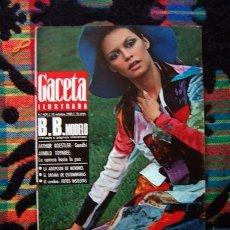 Coleccionismo de Revista Gaceta Ilustrada: REVISTA GACETA ILUSTRADA 1969 / BRIGITTE BARDOT, LUCIA BOSE, ESPECIAL SEAT TODOS LOS AUTOMOVILES. Lote 57182807