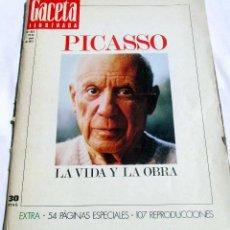 Coleccionismo de Revista Gaceta Ilustrada: LA VIDA Y LA OBRA DE PICASSO. LA GACETA ILUSTRADA Nº EXTRA. Y MÁS .... Lote 57773917