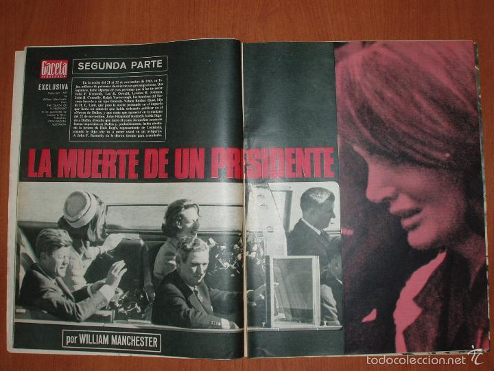Coleccionismo de Revista Gaceta Ilustrada: REVISTA GACETA ILUSTRADA Nº 536 Y 538, AÑO 1967.LA MUERTE DE UN PRESIDENTE 1ª Y 2ª PARTE. 2 REVISTAS - Foto 2 - 58216667