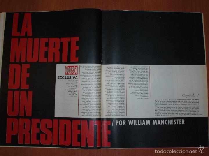 Coleccionismo de Revista Gaceta Ilustrada: REVISTA GACETA ILUSTRADA Nº 536 Y 538, AÑO 1967.LA MUERTE DE UN PRESIDENTE 1ª Y 2ª PARTE. 2 REVISTAS - Foto 3 - 58216667
