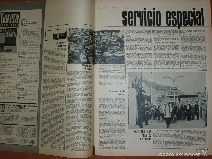Coleccionismo de Revista Gaceta Ilustrada: REVISTA GACETA ILUSTRADA Nº 554, AÑO 1967. PABLO VI, KOWALSKI, ORIANA FALLACI... - Foto 2 - 68285533