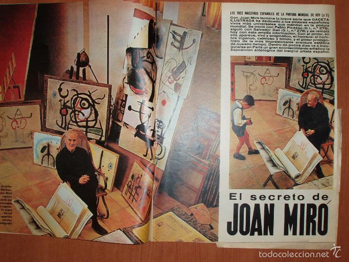 Coleccionismo de Revista Gaceta Ilustrada: REVISTA GACETA ILUSTRADA Nº 295, AÑO 1962. JOAN MIRÓ, RAYMON CARTIER... - Foto 2 - 58216825
