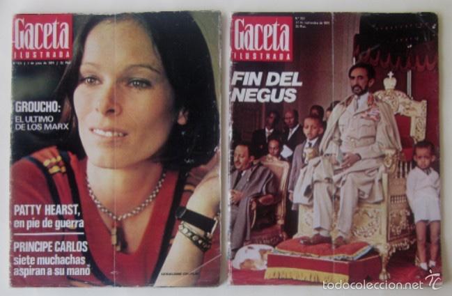 DOS REVISTAS GACETA ILUSTRADA DE 1974 (Coleccionismo - Revistas y Periódicos Modernos (a partir de 1.940) - Revista Gaceta Ilustrada)
