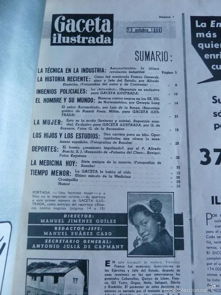Coleccionismo de Revista Gaceta Ilustrada: REVISTA LA GACETA ILUSTRADA NºS 1 A 20 ENCUADERNADAS EN 1 TOMO. OCTUBRE 1956 A FEB 1957. GRAN FORMAT - Foto 3 - 60804739