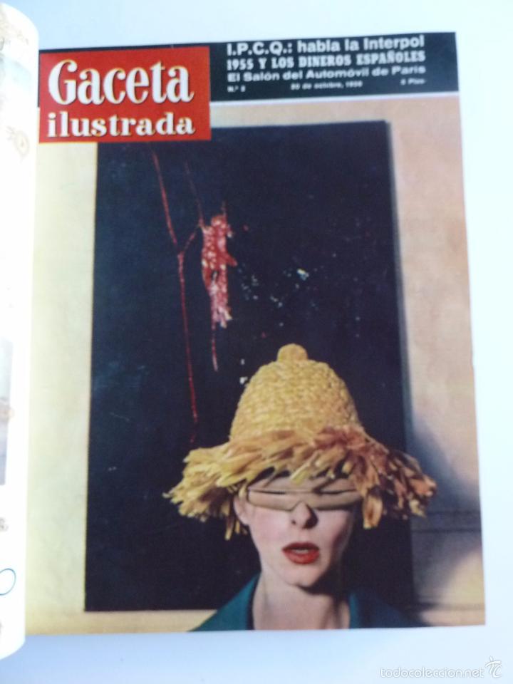 Coleccionismo de Revista Gaceta Ilustrada: REVISTA LA GACETA ILUSTRADA NºS 1 A 20 ENCUADERNADAS EN 1 TOMO. OCTUBRE 1956 A FEB 1957. GRAN FORMAT - Foto 4 - 60804739