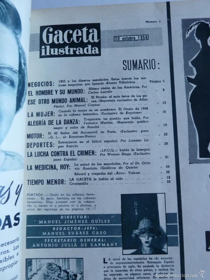 Coleccionismo de Revista Gaceta Ilustrada: REVISTA LA GACETA ILUSTRADA NºS 1 A 20 ENCUADERNADAS EN 1 TOMO. OCTUBRE 1956 A FEB 1957. GRAN FORMAT - Foto 5 - 60804739