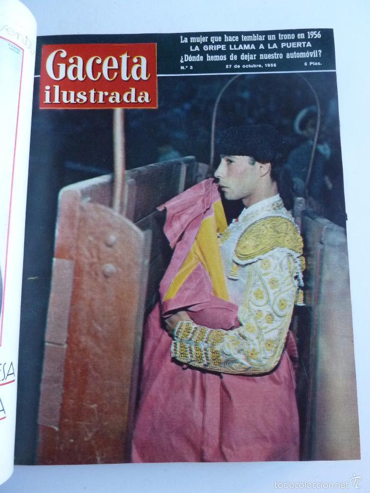 Coleccionismo de Revista Gaceta Ilustrada: REVISTA LA GACETA ILUSTRADA NºS 1 A 20 ENCUADERNADAS EN 1 TOMO. OCTUBRE 1956 A FEB 1957. GRAN FORMAT - Foto 6 - 60804739