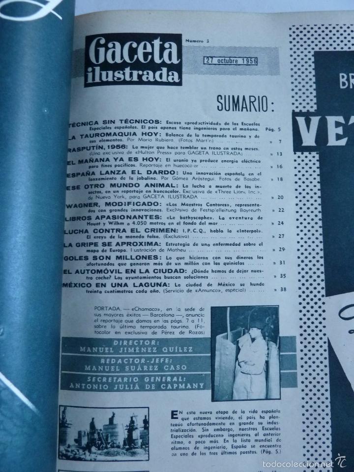 Coleccionismo de Revista Gaceta Ilustrada: REVISTA LA GACETA ILUSTRADA NºS 1 A 20 ENCUADERNADAS EN 1 TOMO. OCTUBRE 1956 A FEB 1957. GRAN FORMAT - Foto 7 - 60804739