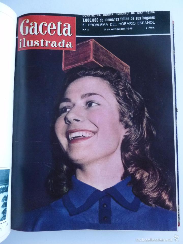 Coleccionismo de Revista Gaceta Ilustrada: REVISTA LA GACETA ILUSTRADA NºS 1 A 20 ENCUADERNADAS EN 1 TOMO. OCTUBRE 1956 A FEB 1957. GRAN FORMAT - Foto 8 - 60804739
