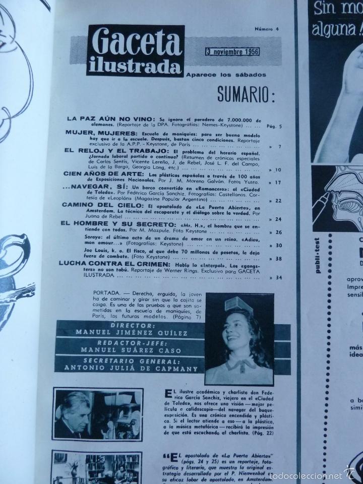 Coleccionismo de Revista Gaceta Ilustrada: REVISTA LA GACETA ILUSTRADA NºS 1 A 20 ENCUADERNADAS EN 1 TOMO. OCTUBRE 1956 A FEB 1957. GRAN FORMAT - Foto 9 - 60804739