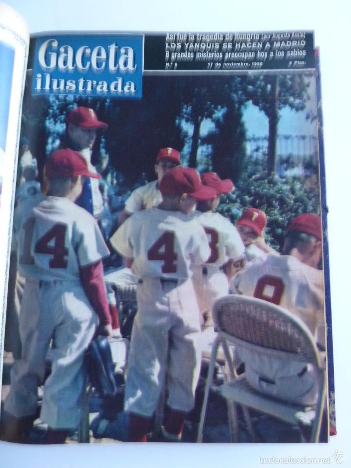Coleccionismo de Revista Gaceta Ilustrada: REVISTA LA GACETA ILUSTRADA NºS 1 A 20 ENCUADERNADAS EN 1 TOMO. OCTUBRE 1956 A FEB 1957. GRAN FORMAT - Foto 10 - 60804739