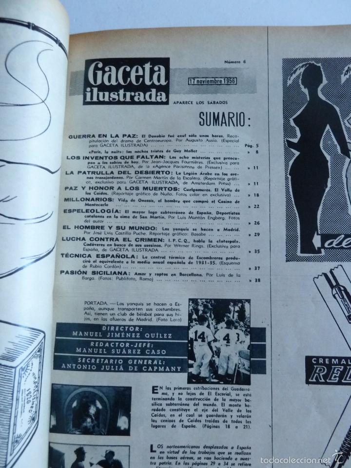 Coleccionismo de Revista Gaceta Ilustrada: REVISTA LA GACETA ILUSTRADA NºS 1 A 20 ENCUADERNADAS EN 1 TOMO. OCTUBRE 1956 A FEB 1957. GRAN FORMAT - Foto 11 - 60804739