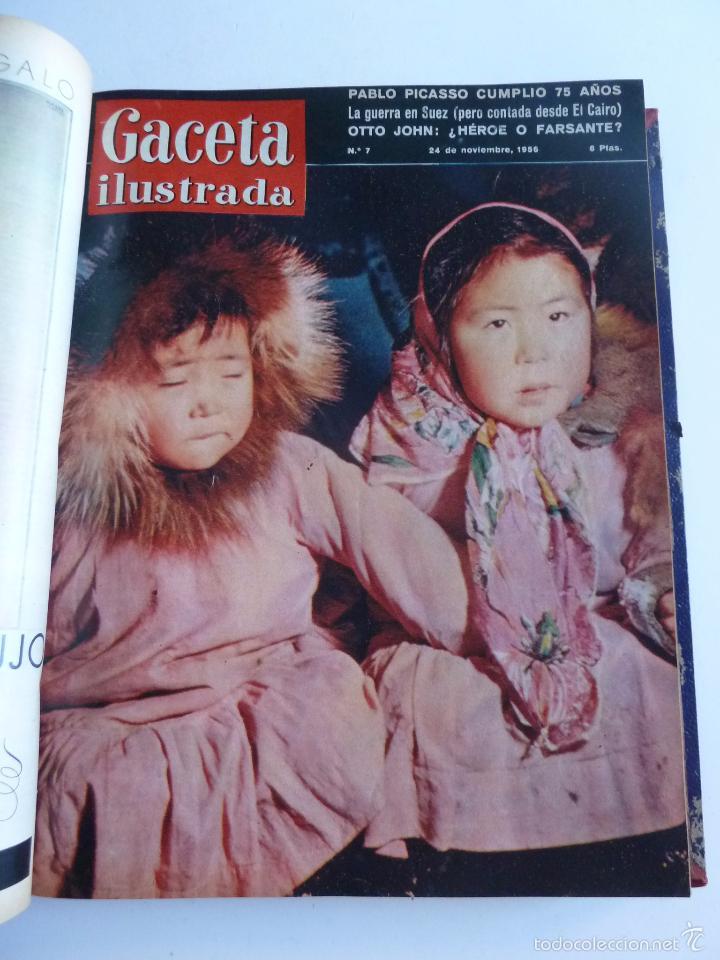 Coleccionismo de Revista Gaceta Ilustrada: REVISTA LA GACETA ILUSTRADA NºS 1 A 20 ENCUADERNADAS EN 1 TOMO. OCTUBRE 1956 A FEB 1957. GRAN FORMAT - Foto 12 - 60804739
