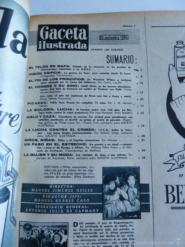 Coleccionismo de Revista Gaceta Ilustrada: REVISTA LA GACETA ILUSTRADA NºS 1 A 20 ENCUADERNADAS EN 1 TOMO. OCTUBRE 1956 A FEB 1957. GRAN FORMAT - Foto 13 - 60804739