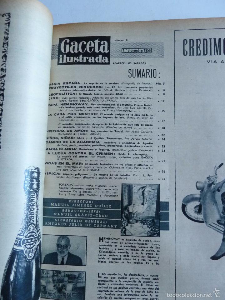 Coleccionismo de Revista Gaceta Ilustrada: REVISTA LA GACETA ILUSTRADA NºS 1 A 20 ENCUADERNADAS EN 1 TOMO. OCTUBRE 1956 A FEB 1957. GRAN FORMAT - Foto 16 - 60804739