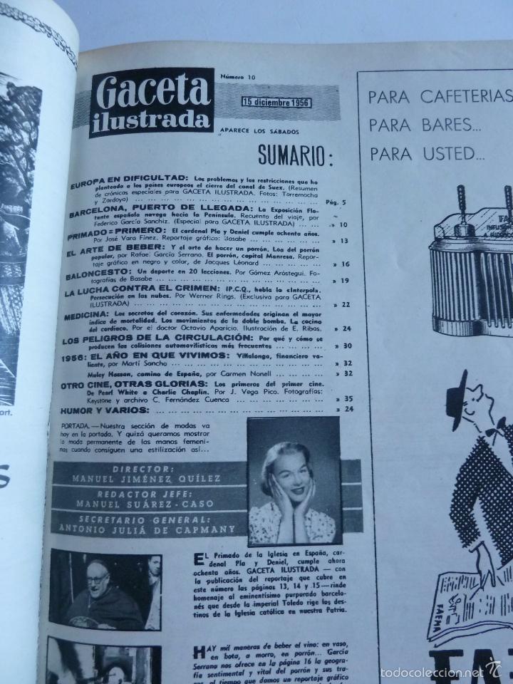 Coleccionismo de Revista Gaceta Ilustrada: REVISTA LA GACETA ILUSTRADA NºS 1 A 20 ENCUADERNADAS EN 1 TOMO. OCTUBRE 1956 A FEB 1957. GRAN FORMAT - Foto 20 - 60804739