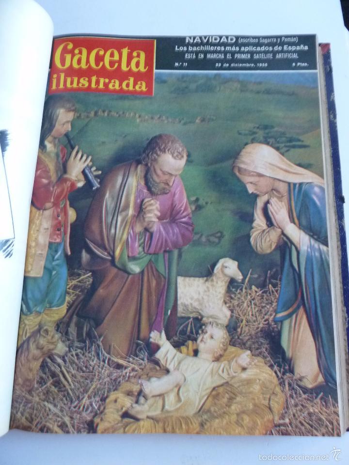 Coleccionismo de Revista Gaceta Ilustrada: REVISTA LA GACETA ILUSTRADA NºS 1 A 20 ENCUADERNADAS EN 1 TOMO. OCTUBRE 1956 A FEB 1957. GRAN FORMAT - Foto 21 - 60804739
