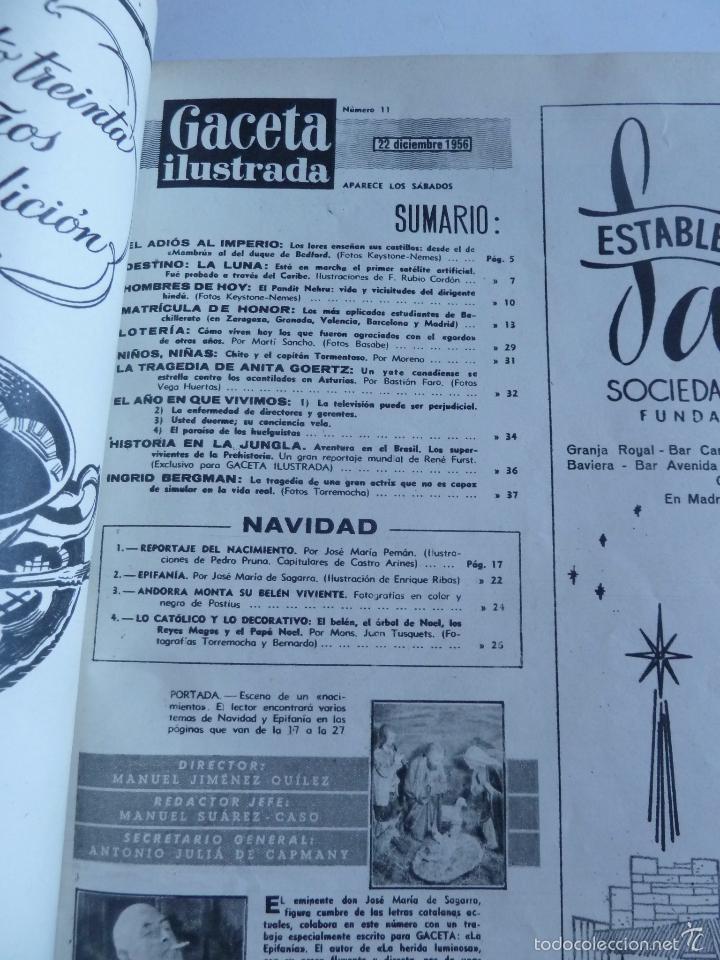 Coleccionismo de Revista Gaceta Ilustrada: REVISTA LA GACETA ILUSTRADA NºS 1 A 20 ENCUADERNADAS EN 1 TOMO. OCTUBRE 1956 A FEB 1957. GRAN FORMAT - Foto 22 - 60804739
