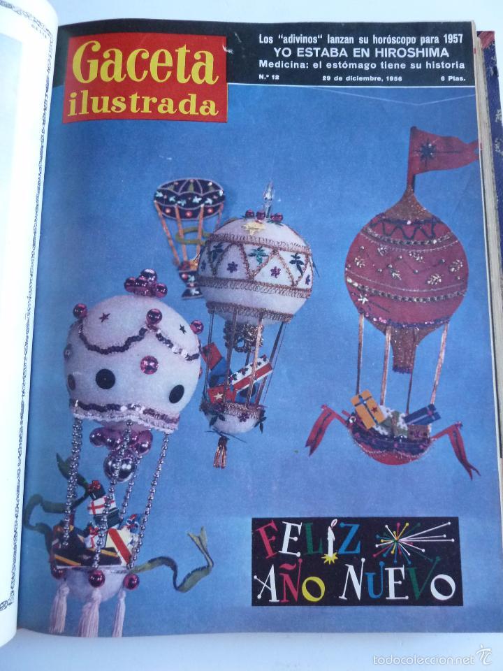 Coleccionismo de Revista Gaceta Ilustrada: REVISTA LA GACETA ILUSTRADA NºS 1 A 20 ENCUADERNADAS EN 1 TOMO. OCTUBRE 1956 A FEB 1957. GRAN FORMAT - Foto 23 - 60804739